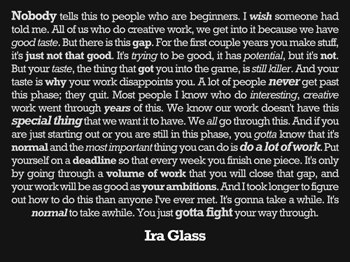 ira glass taste quote