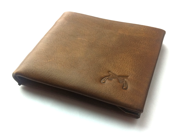 Brown Leather Wallet from Owen and Fred